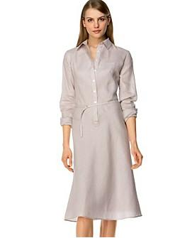 linen dress with silk slip! Plumcake likes!